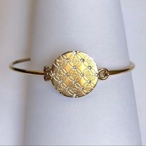 Michael Kors Gold Disc Monogram Bracelet Bangle.